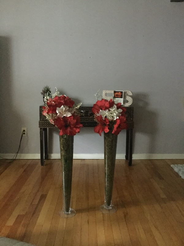 Used silk flower arrangements red and white for sale in west orange silk flower arrangements red and white mightylinksfo