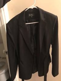 black leather zip-up jacket Capitol Heights, 20743