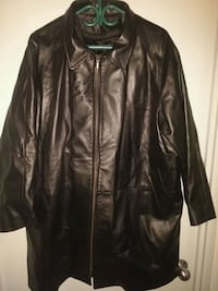 black leather zip-up jacket Toronto, M8V 3Y9
