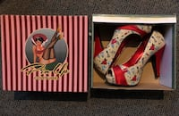 Pin Up Couture Bettie 13 Pumps Size 9 Womans Ceres, 95307