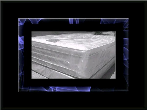 """Full 16"""" double pillowtop mattress with box"""