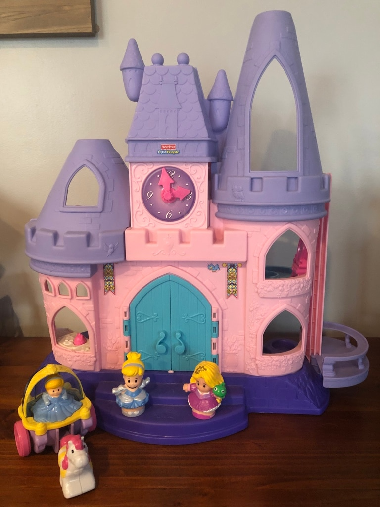 Photo Fisher Price Little People Disney Princess Castle Dollhouse Figures
