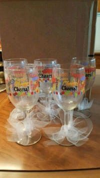Set of 5 decorated wine glasses Winchester, 22601