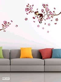 white and red floral 3-seat sofa Jaipur, 302039