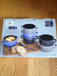 Brand New in box Gourmet Basics by Mikasa set of 6 stoneware