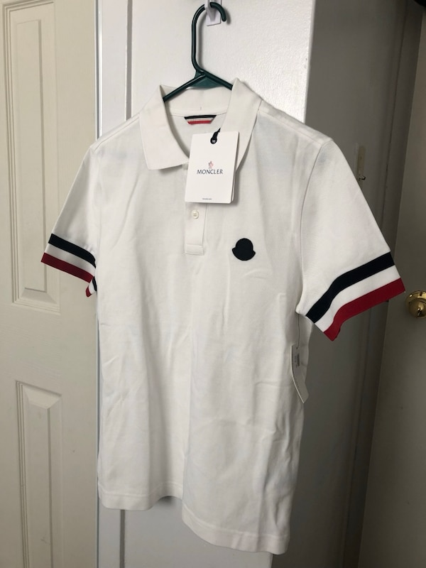 White and black polo shirt