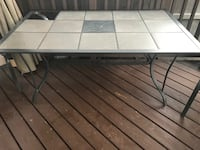 Tile Patio Table and Chair Edmonton