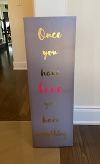 Canvas Art with Gold Lettering Brampton, L6Y 2Y6