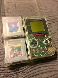 Clear Nintendo Game Boy DMG-01 with 4 Games in Clear Case Ajax, L1T 1T9