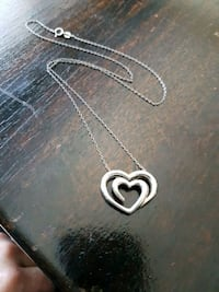 Sterling silver heavy heart pendant and necklace Kitchener, N2N 3K5