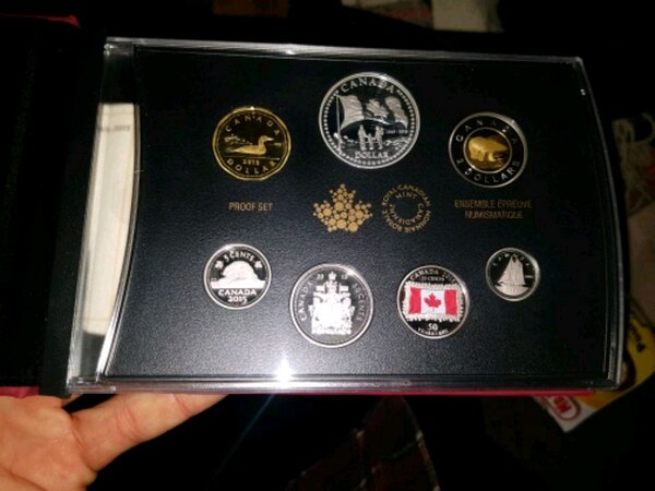 Coins set Canadian coins