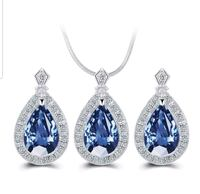 $16 NEW silver plated CZ necklace set  Ballwin, 63021