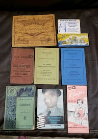 vintage books and brochure