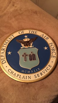 "Vintage 80's Department Of The Airforce 15"" Plaque"