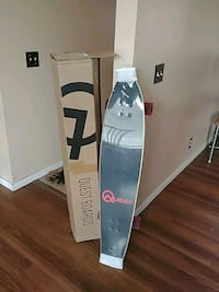 white and blue snowboard with bindings Calgary, T3J 1B5