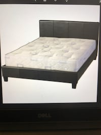 Queen Brown leather frame bed, will Deliver ! Annandale