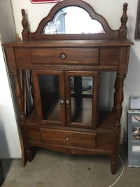 """Beautiful Vintage Cabinet Excellent Condition, inside bottom drawer has some worn Felt, can see in picture. pick up in Castle Hayne near CVS. Glass is included just not shown, I still have them carefully packed away. 67"""" Tall, 16"""" Deep and 42.5"""" Wide.  Castle Hayne, 28429"""