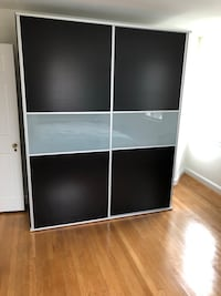black and white wooden wardrobe 41 km