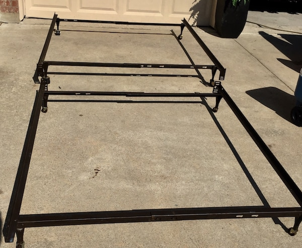 0a9785f33e2a One queen size   one full size metal bed frames - easy to assemble no tools