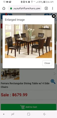 Crown Mark Dining Table(negotiable) Augusta