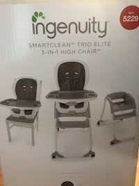 Ingenuity smartclean 3-in-1 highchair  Regina, S4R 7Y3