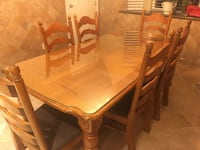 Kitchen Table with 6 chairs - Solid Wood Vancouver, V5M 1T3