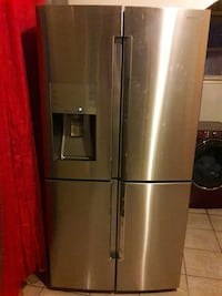Samsung stainless steel four door refrigerator wit Camden, 08103
