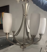 Stainless steel base white uplight chandelier Tampa, 33647
