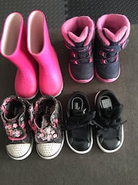 Various Toddler boots/shoes Calgary, T2B
