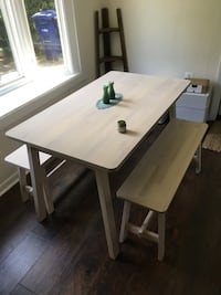 Kitchen dining table with 2 benches Falls Church, 22042