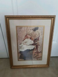 Vintage Antique frame of girl with little kitten Toronto, M6A 2T9