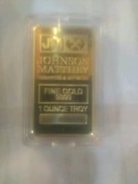 .9999 gold clad one oz bar
