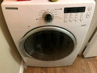 White Samsung front-load washer and dryer Farmers Branch, 75234