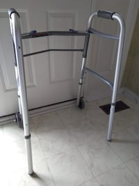 """Invacare Dual Release Folding Adult Walker with 5"""" Wheels Aluminum (Adjustable Height) 6240-5F"""
