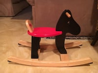 Black and red rocking horse mint condition Hamilton, L8W 2W2