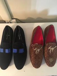 pairs of brown and black loafers Brampton, L6T 5R2