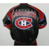 NFL CANADIENS MONTREAL BASEBALL LEATHER JACKET