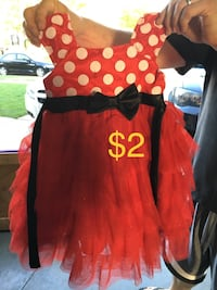 red and black Mickey Mouse dress Manteno, 60950