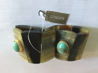 New with tag, Chico's shell turquoise expansion bracelet DALLAS