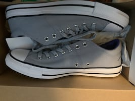 BRAND NEW!! Wolf Grey/white/Black  Chuck Taylor Converse