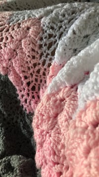 white and pink knitted textile Charlotte, 28216