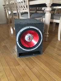 black and red subwoofer speaker Wake Forest, 27587
