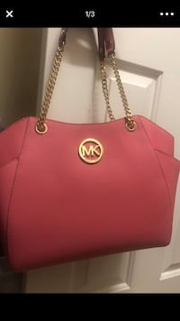 red Michael Kors leather tote bag High Point, 27265