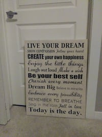 Motivational Decor Canvas approx 3ft tall 2ft wide Calgary, T2Z