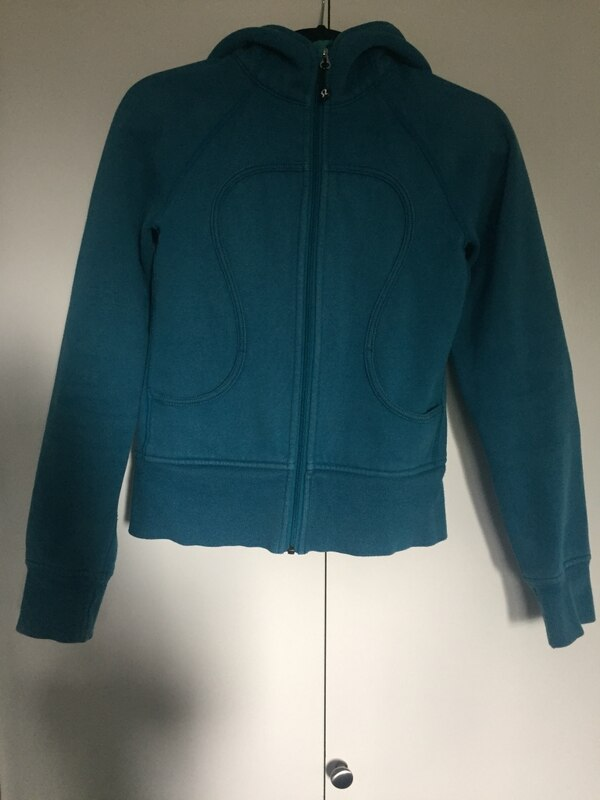 Blue zip-up sweater Lululemon size 4