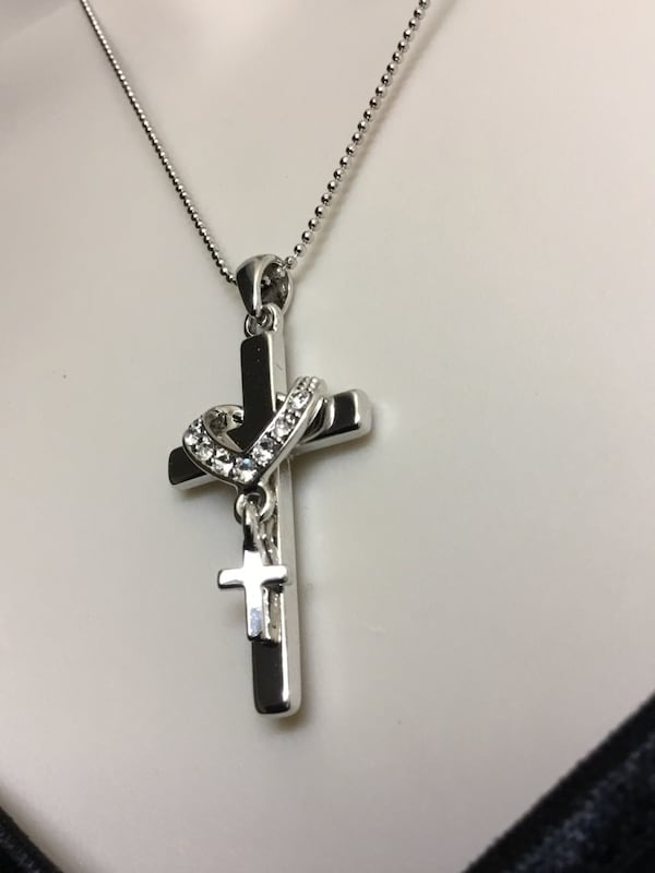 Stainless Steel Cross Necklace and chain 9850199b-a48e-4a72-90fd-fe041d14d2c4