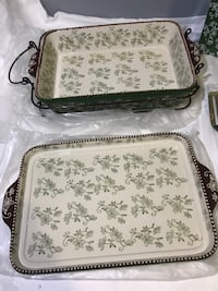 AS-IS TEMPTATIONS BAKER SET IN GIFT BOX (FLORAL LACE GREEN)- FJN Cambridge, N1P 1E3