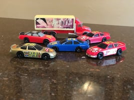 McDonald's NASCAR and Delivery Truck Hot Wheels Matchbox Cars.