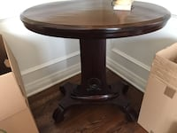 SOLID WOOD OVAL SHAPED SIDE TABLE