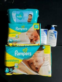 Cerave Pampers Swaddlers disposable diaper packs Suffolk, 23435